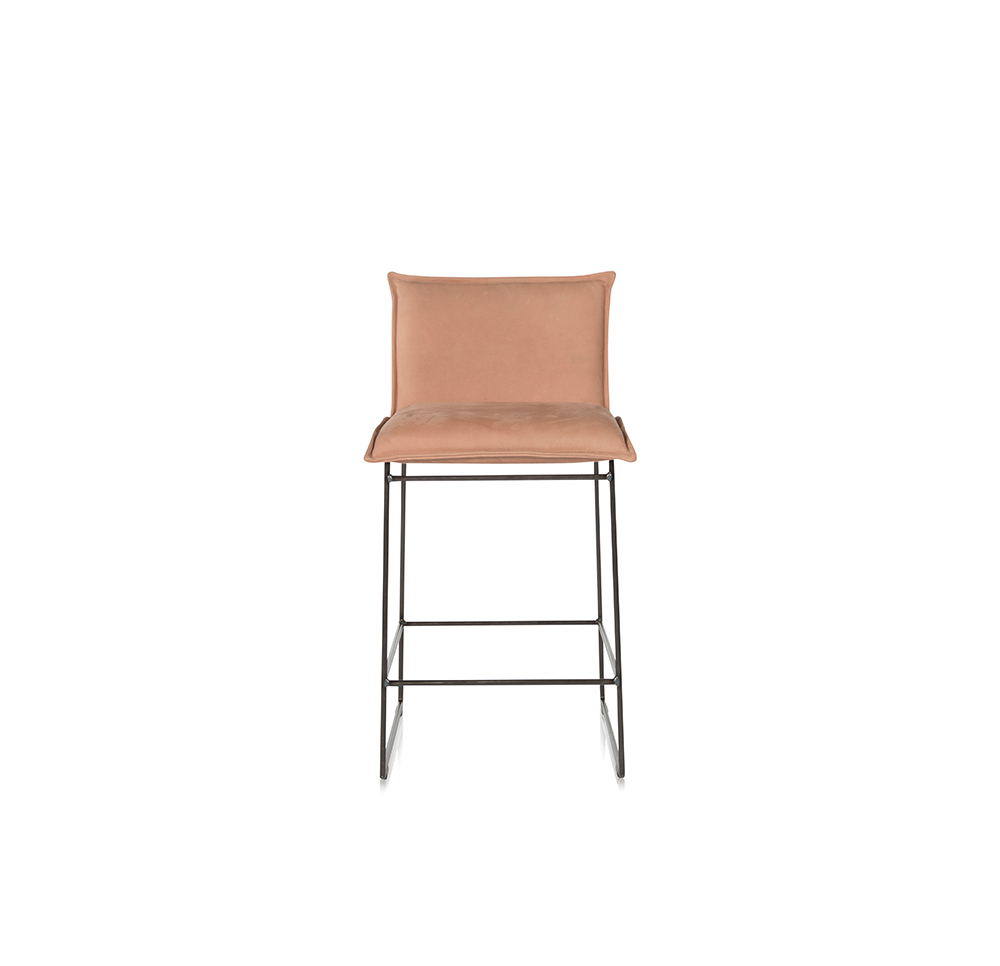 Amy Barstool Without Arm Aurula Pink Front