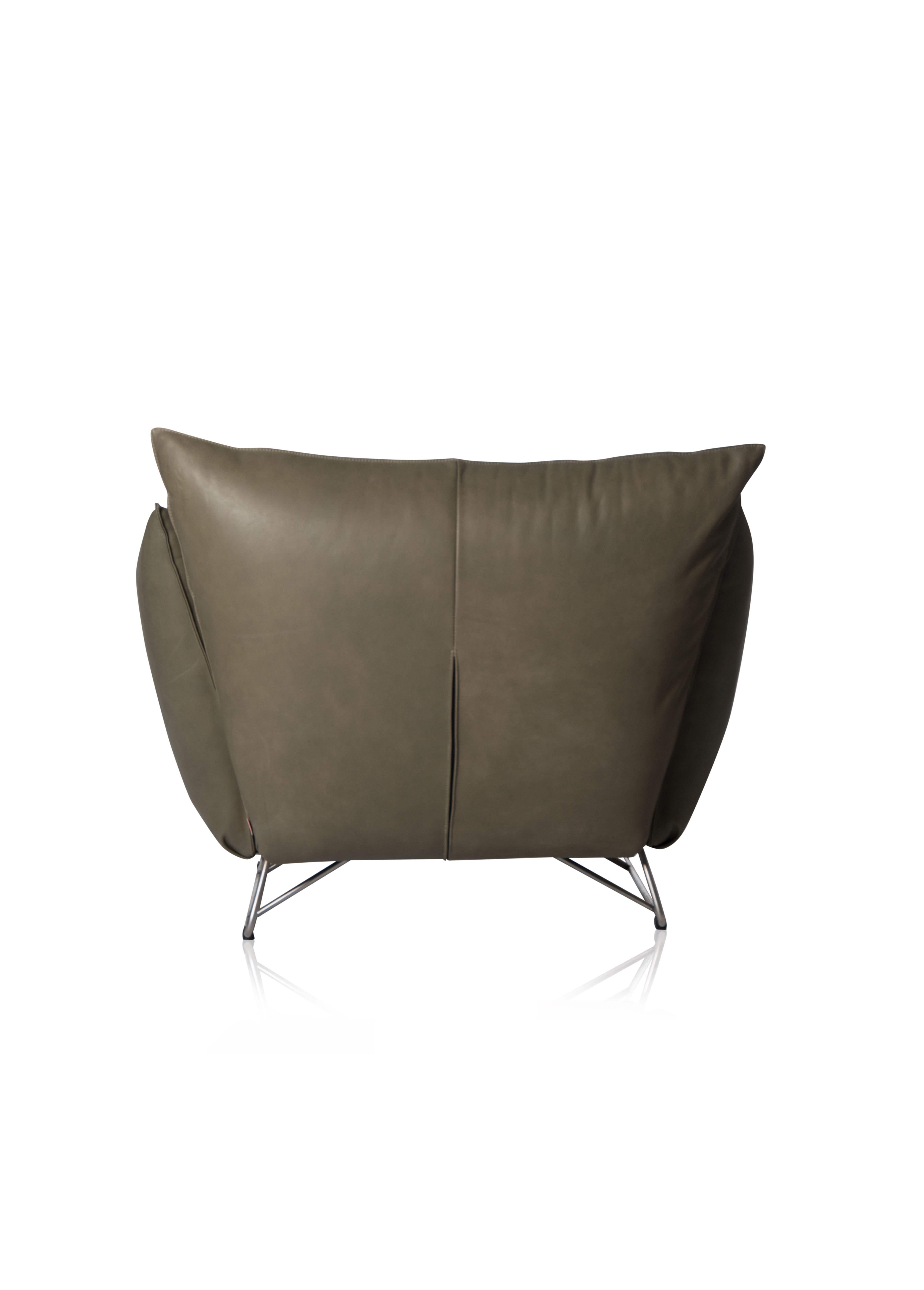 My Home Chair With Arm Stainless Steel Frame Royal Olive Back